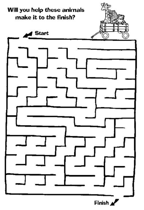 maze page print your free maze at allkidsnetwork children s worksheets mazes for
