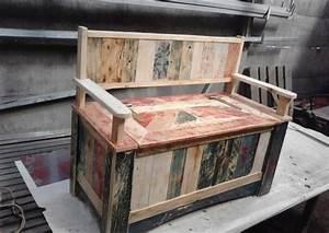 1001 idees pour fabriquer un banc en palette charmant With comment faire un meuble en palette