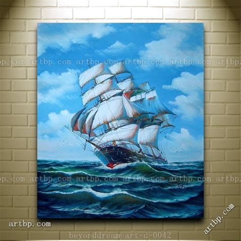 racing home big sailing ship oil painting classic boat