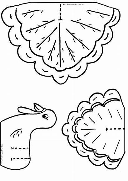Turkey Coloring Thanksgiving Cutouts Printable Craft Pattern