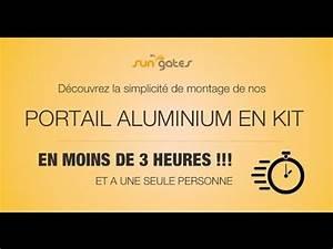 Portail Alu En Kit : montage portail aluminium en kit sungates youtube ~ Edinachiropracticcenter.com Idées de Décoration