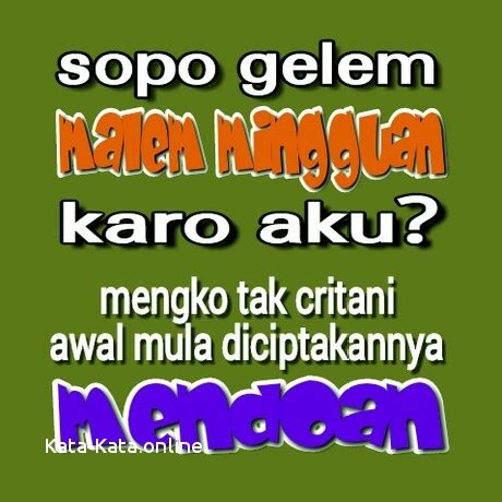 Status Wa Lucu Bahasa Jawa Tulisan Lucu