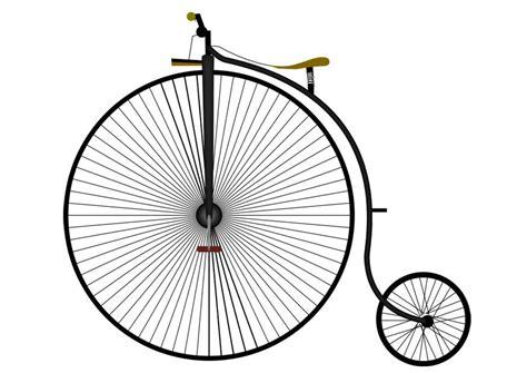 image bicyclette antique dessin