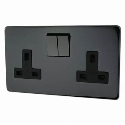 Socket Screwless Nickel Sockets Switches Double Switch