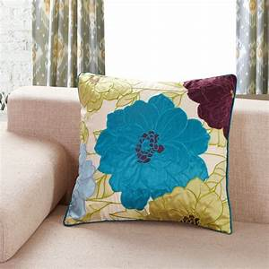 Yellow and Turquoise Throw Pillows – SAVARY Homes