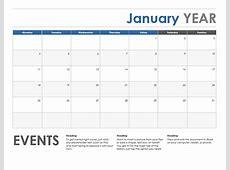 Horizontal calendar Monday start