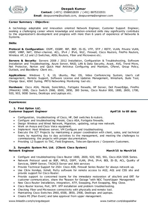 resume  network engineer  network admin team leader