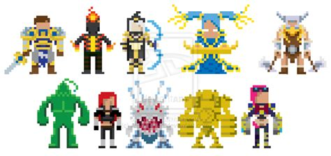 League Of Legends Pixel Art By Alexmatsuri On Deviantart