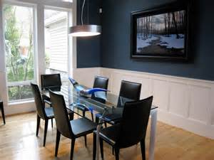 blue dining room ideas creating a warm and calm situation at home with blue accent wall