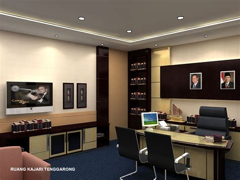 desain interior kantor minimalis modern  indah