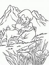 Heidi Coloring Pages Print sketch template