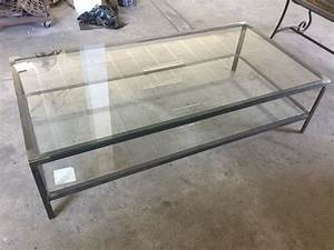 Table Basse Metal Verre : table basse en verre et metal id es de d coration int rieure french decor ~ Mglfilm.com Idées de Décoration