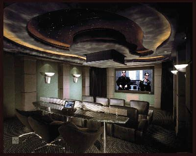 creative  cool home theater designs