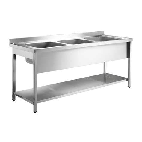 stainless steel sink with legs inomak stainless steel sink on legs la5192c double