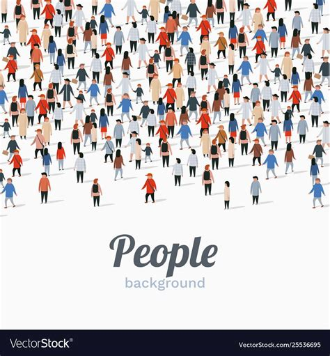 large group people  white background people vector image