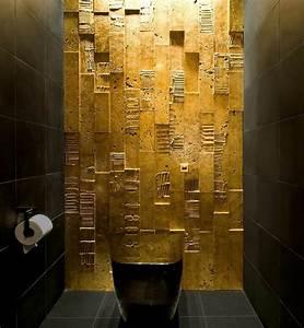 Rose Gold Wandfarbe : id e d co int rieur un int rieur l gant en noir et dor ~ Frokenaadalensverden.com Haus und Dekorationen