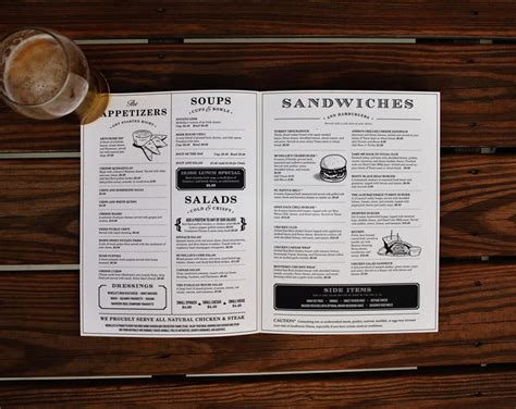 restaurant menu design 50 restaurant menu designs that look better than food