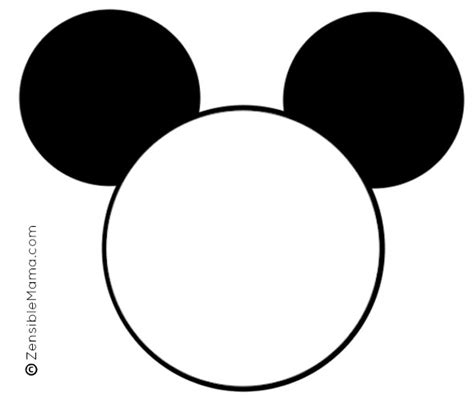 mickey template zensible disney inspired mickey mouse ears printable template