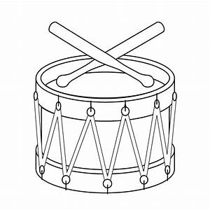 Toy Drum Picture - Toy Drum Coloring Page