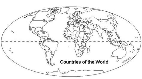 world map  countries coloring page world map