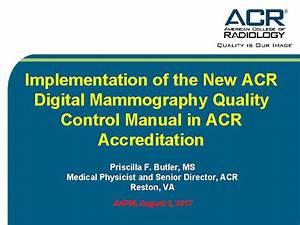 1999 Acr Quality Control Manual