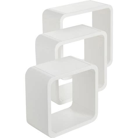 aide de cuisine etagère 3 cubes blanc blanc l 28 x p 28 l 24 x p 24 l