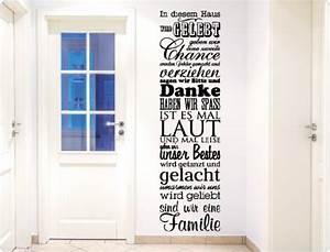 In Diesem Haus : i love wandtattoo 11498 wandtattoo spruch in diesem haus wird gelebt wanddekoration schwarz ~ Orissabook.com Haus und Dekorationen