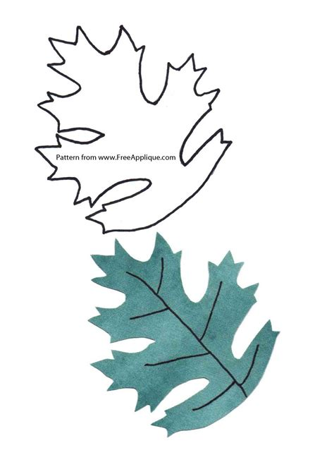 Leaf Applique by Printable Leaf Patterns For Applique Quilting Crafts Or