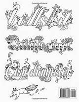 Coloring Adult Words Bad Books Swear Word Swearing Pages Printable Sheets Uteer Dari Disimpan sketch template