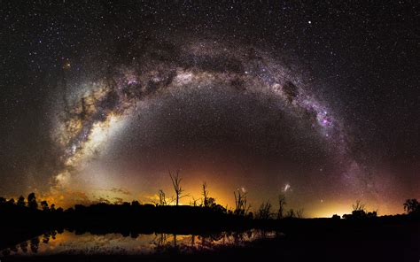 Milky Way Over Harvey Dam In Western Australia 4k Ultra Hd