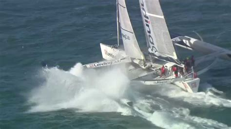 Trimaran World Speed Record by Cowes To Dinard World Speed Sailing Record
