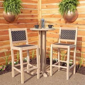 Table Bar But : matalinda 3 piece teak outdoor bar table set outdoor ~ Teatrodelosmanantiales.com Idées de Décoration