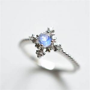 little star moonstone engagement ring With moonstone wedding ring