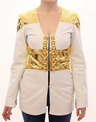 White and Gold Leather Jackets