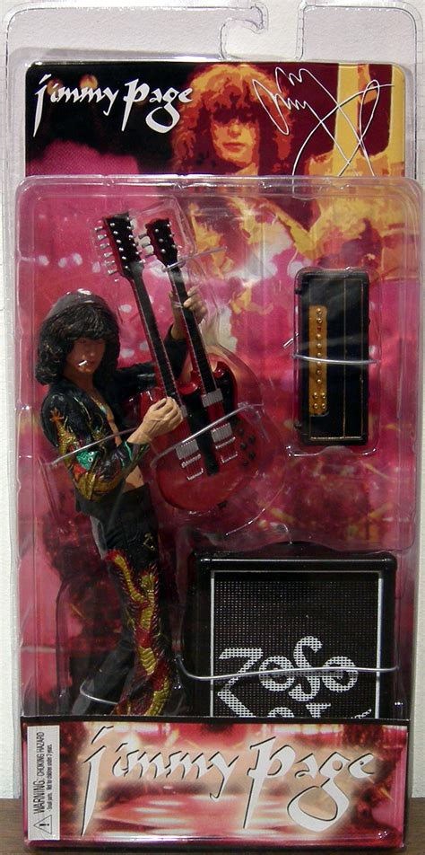 jimmy page action figure led zeppelin neca