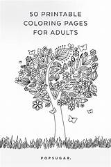 Coloring Pages Adults Popsugar Adult Printable Smart Living sketch template
