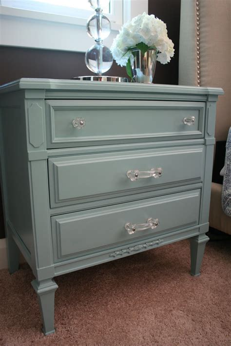 the paint color for the nightstands is gulf winds by behr
