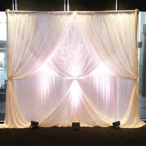 wedding background 2 layer curtain ties wedding backdrop with lights poa amethyst wedding event decor