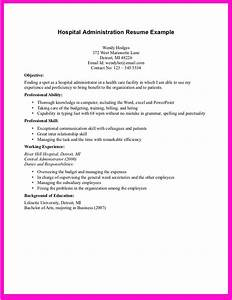 Example for hospital administration resume example for for Hospital resume