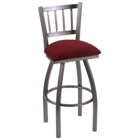 contessa swivel bar stool with fabric or vinyl