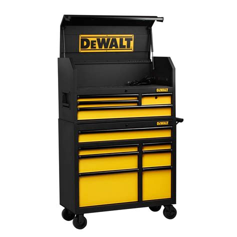 tool chest and cabinet dewalt 40 in 11 drawer black tool chest and rolling tool cabinet set dwmt78074d the home depot
