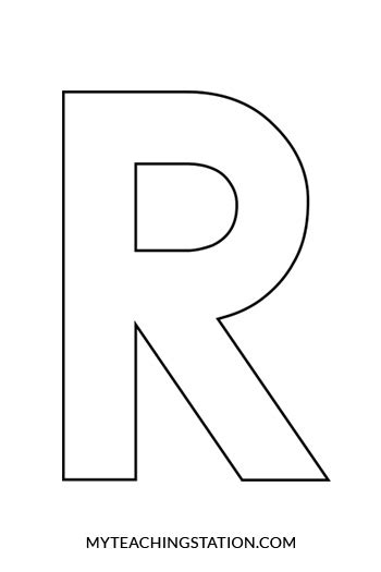 letter r craft raccoon myteachingstation 832 | Uppercase Letter R Template for Crafts