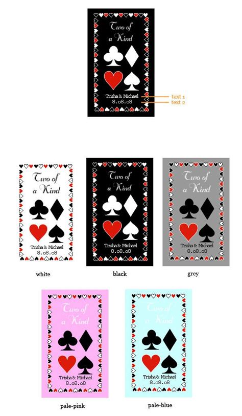 kind playing cards personalized  sticker