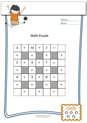 addition math puzzle   images maths puzzles
