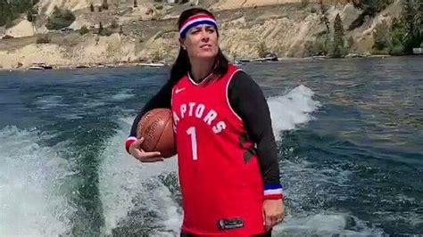 Toronto Raptors Superfan Wakeboards Wearing Team Uniform ...