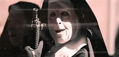 Robbery Bank Town Gifs Mask Nun Gun