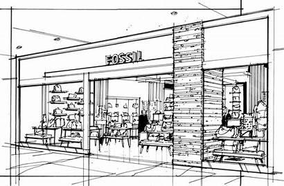 Sketch Sketches Interior Drawing Coroflot Storefront Drawings