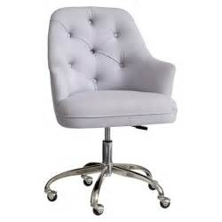 Swivel Chairs Upholstered by Twill Tufted Desk Chair Pbteen