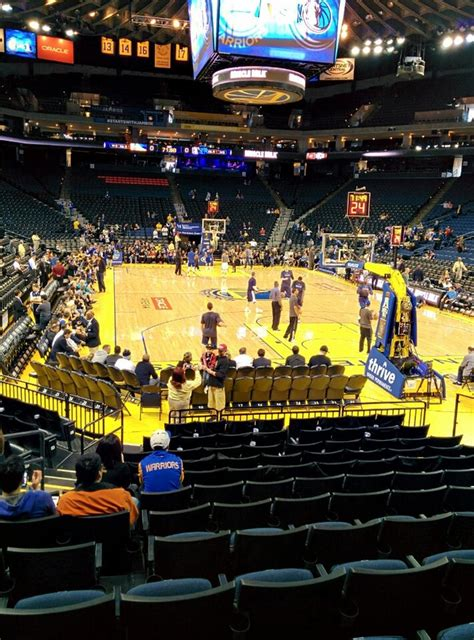 oracle arena section  golden state warriors rateyourseatscom