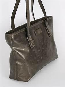 Gucci - GG Imprime Metallic Small Shopping Bag   Luxury Bags